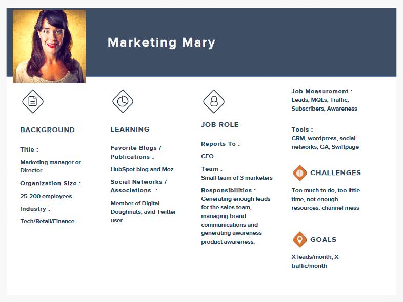 Marketing Persona Document - Marketing Mary