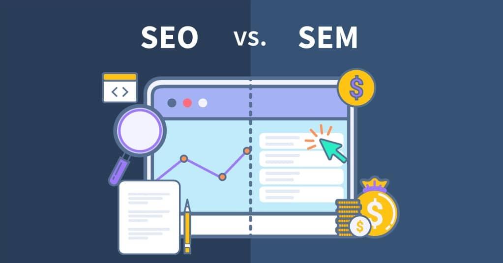 SEM vs SEO blog header