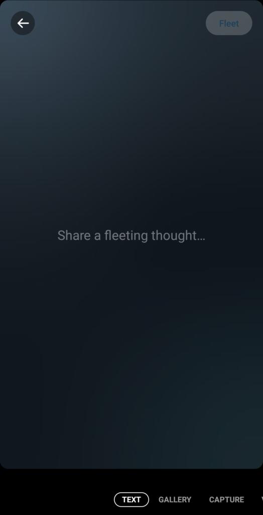 A Text only Fleet
