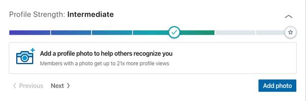 LinkedIn SSI Profile Strength
