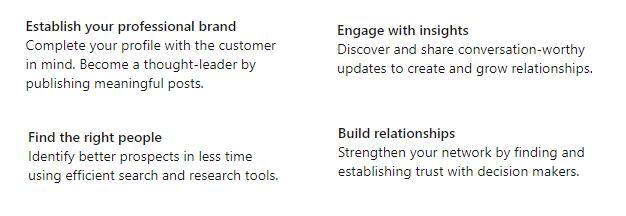 LinkedIn SSI categories